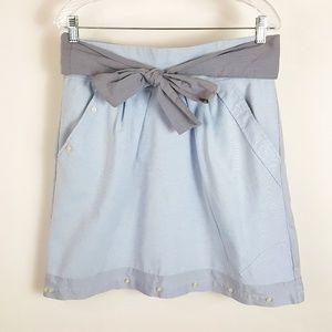 Anthropologie Handcut by Preloved Tie Waist Skirt